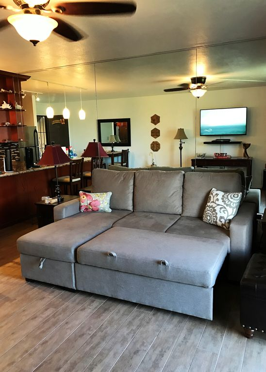 Couch Rolls Out To Queen Sleeper. Sofa Storage Has Linens U0026 Twin Air  Mattress.
