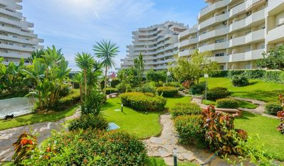 Photo for 1 bedroom groundfloor apartment in Benal Beach, Benalmadena, sleeps 4 + 1 child