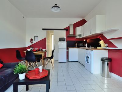 Photo for Flat-Apartments 36m², Ground floor, City Center Lamalou les Bains