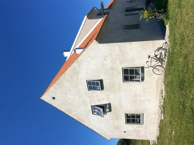 Photo for Traditional Gotland stone house with sea views in Fårösund, 150m from the seafront