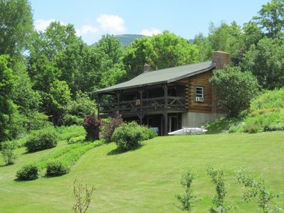 Photo for Cozy cabin by the river, 8 acre property