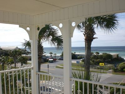 Photo for Panoramic View-No Upstair Neighbor-Pristine End Unit-Steps To Beach-King Bed!!!