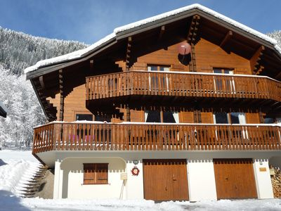 Photo for Chalet (sleeps 6 or 8/10) Walking distance to Chatel slopes & the whole ski area