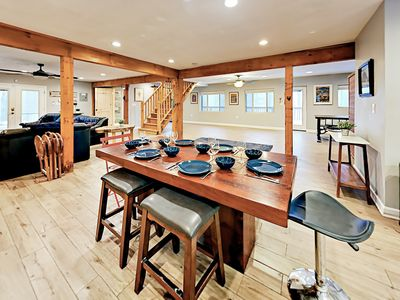 Dining Area - When it's time to eat, gather around the 6-person dining table for family meals.