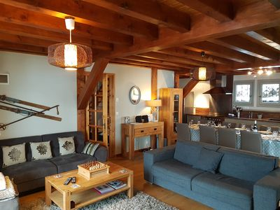 Photo for Luxury chalet with hot tub & wifi, sleeping 12-14, centrally located in Samoens.