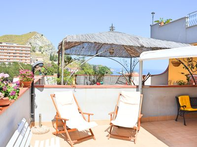 Photo for Casa del Sole - splendid apartment just a few steps from the sea and Taormina station