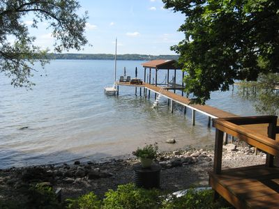 Photo for Lakefront Serenity with Sunset Views on Seneca Wine Trail