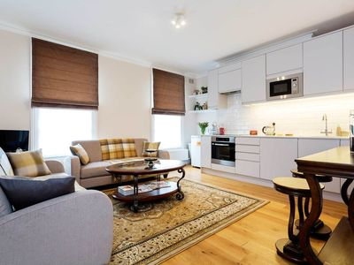 Photo for Elegant and elaborate apartment in the heart of desirable Marylebone (Veeve)