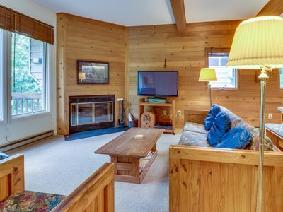 Photo for Cozy, family-friendly home with furnished deck - close to lake, hiking, & skiing