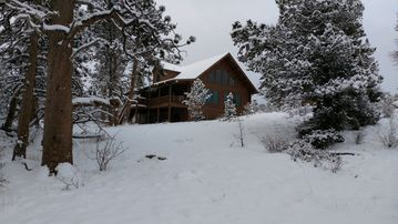 Log Home With Outstanding Snow Capped Mountain View