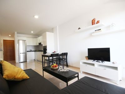 Photo for Modern apartment with seaview and swimming pool (WIFI + PARKING)
