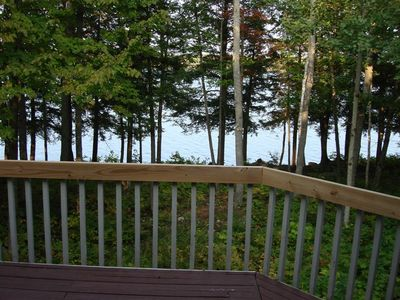 A view of Moose Pond from the back deck