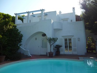 Photo for VILLA WITH A VIEW AND A POOL LOCATED BETWEEN ANACAPRI AND THE BLUE GROTTO