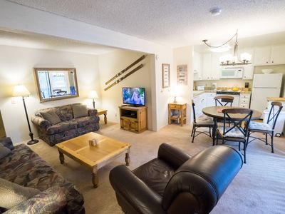 Photo for Comfortable condo w/ private balcony on shuttle route- perfect for couples
