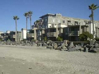 Looking at the complex from the beach