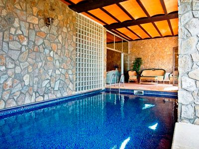 Photo for This 5-bedroom villa for up to 10 guests is located in Tordera and has a private swimming pool, air-