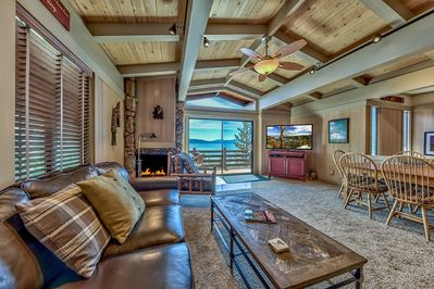 Living Room With Deck and Lake View
