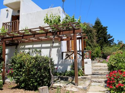 Photo for Relaxing in calm idyll with great sea view - holiday house Kalo Chorio, Crete