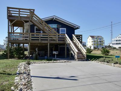 Photo for Semi Oceanfront Lot, 3rd house back & 100% Renovated, Ocean And Sound Views
