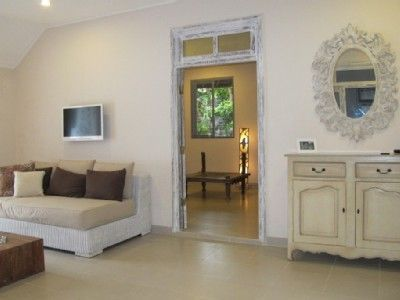 Sanur holiday villa's sun-filled living room