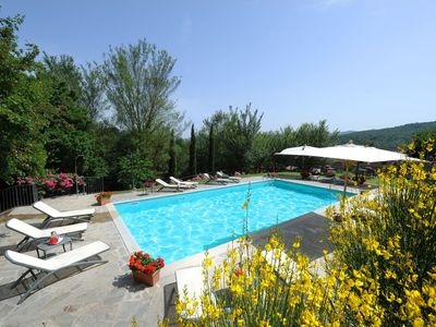 Photo for Wonderful private villa for 15 people with private pool, A/C, WIFI, TV, panoramic view and parking