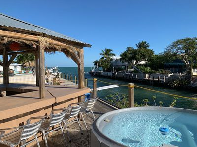 Photo for Waterfront home w/ a Tiki hut, private outdoor spa, dock, & amazing Gulf views