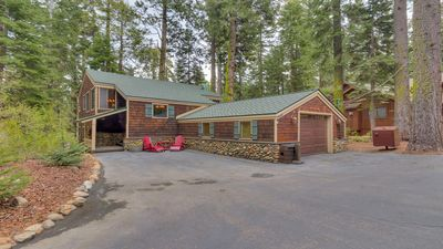 Photo for Luxurious, cozy Cabin in the woods, Hot tub, Sauna, dog friendly beach, hiking