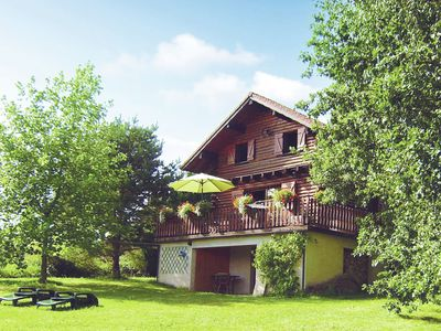 Photo for Cosy chalet with magnificent view of wooded area in France