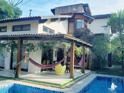 Photo for House with swimming pool, 70m from the sea, includes cook - Praia de Santiago