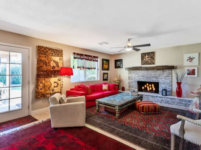 Photo for Cozy Bohemian Style Home! Private Pool & Patio - Close to Mayo Clinic, Shops, Dining, Hiking, Golf