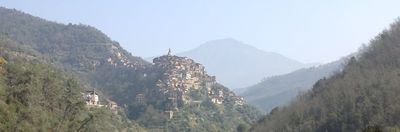 Apricale seen from Isolabona direction.