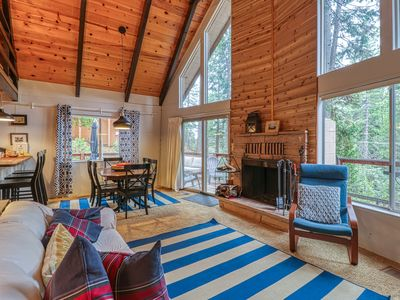 Photo for NEW LISTING! Cozy chalet in the heart of the forest, with a shared pool/tennis!