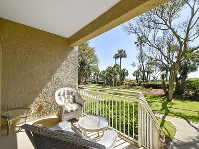 Photo for Fabulous views from this spacious ocean-front villa in Captains Walk!