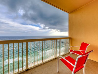 Photo for Beach view home w/ shared pool, steps to sugar white sands!