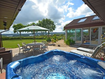 Photo for Perfect party pad with hot tub & spectacular lake views in the Mendip Hills AONB