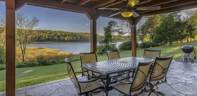 Photo for A Lakefront Oasis with a Pool and Dock: Begging for a BBQ!