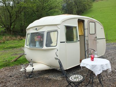 Photo for Vintage Caravan on Private  Site with Trout Fishing Nearby