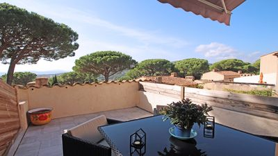 Photo for House 2/4 people - Sea view - Air conditioning - WiFi - Pool - Sainte Maxime