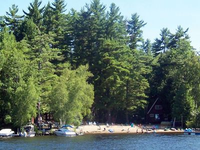 Photo for 4 BR cottage on Lake Winnipesaukee with use of small boats