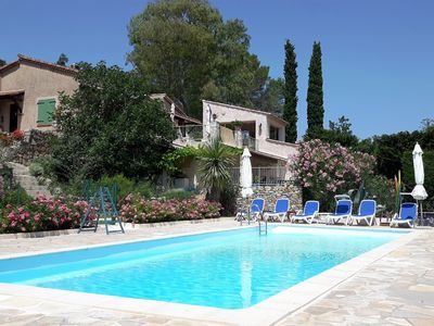 Photo for Charming Provencal Villa With Separate Apartment  Large Pool and Wonderful views
