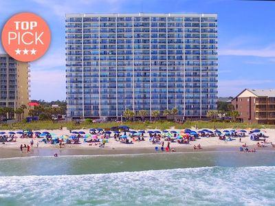 Photo for Gorgeous 3 Bedroom Oceanfront Condo, AshWorth 107!