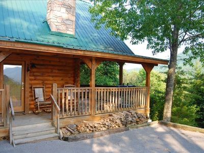 Photo for Rustic luxury, privacy, view, hot tub.