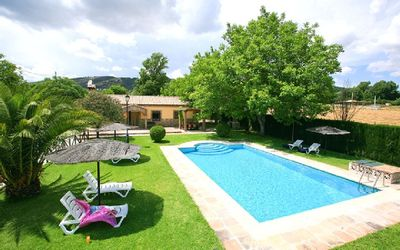 Photo for El Nogal: rural house with pool and paddle court