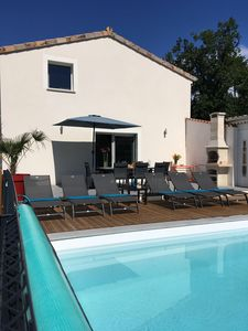 Photo for Magnificent villa any comfort, private and heated swimming pool, south Ardèche