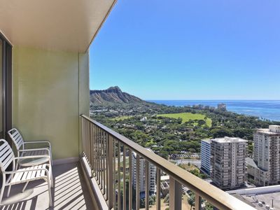 Photo for INCREDIBLE Ocean views!  Close to beach!  A/C, WiFi, one Parking!