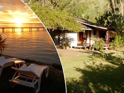 Photo for Poerani Moorea : Polynesian Cottage with climatisation, lagoon side, 1-4 pers.