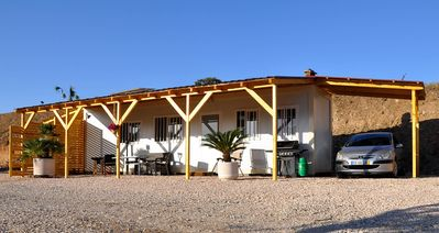 Photo for Algarve bungalow on the lake with beach, car & playground only 20km north of Albufeira