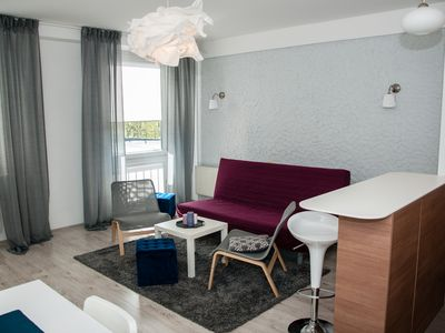 Photo for Auras apartment in the center of Vilnius (1 bedroom/1 bathroom)