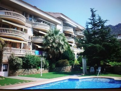 Photo for Beautiful 3 bedroom apartment in a quiet village location with Pool