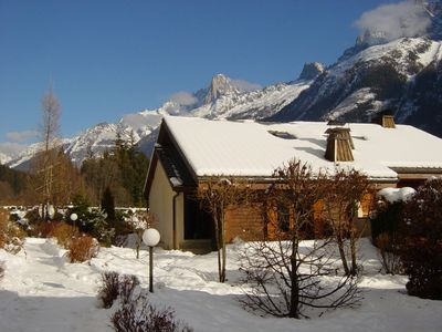 Photo for A superb 2 bedroom appartment within private chalet complex with stunning views